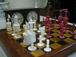 Type I English Barleycorn Chess Set