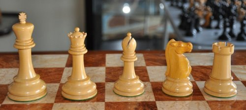 "Jaques 4.0"" Tournament Size Broadbent Chessmen"