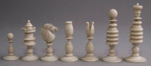 Calvert Decorative Type II English Playing Chess Set