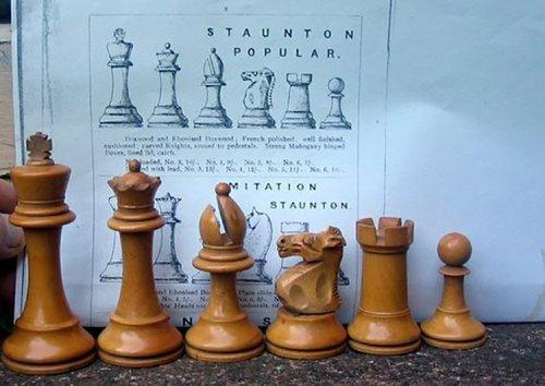 "British Chess Company Popular Chessmen, 4-0"" King"