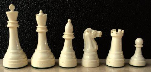 Vintage Gallant Knight Black Tournament-size Plastic Chess Set