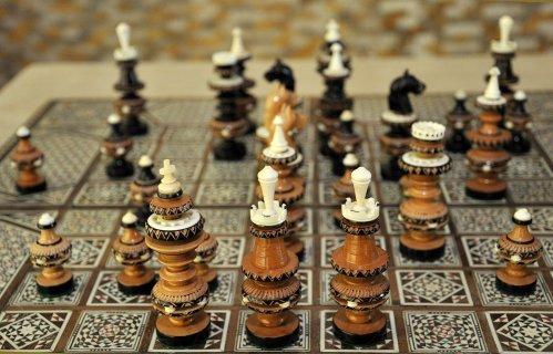 Modern French Regence Style Chessmen