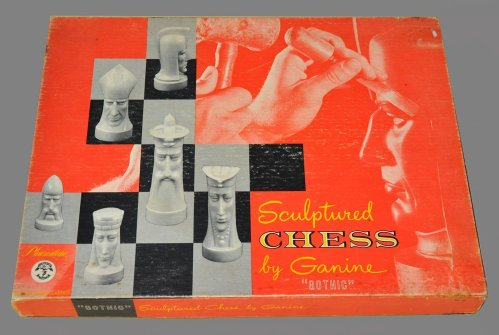 Sculptured Gothic Chess Set by Ganine