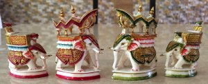 Rajasthan Polychrome Chess Pieces