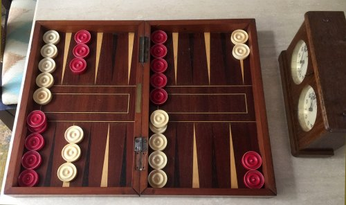 "Antique Ivory Backgammon Pieces, 1.45"" x 3/8"""