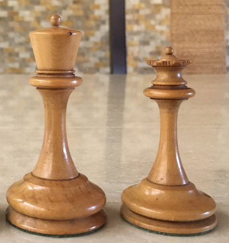 Antique B & Company Chess Set
