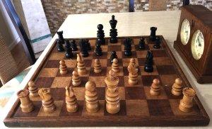 Saint George Ebony Chess Pieces