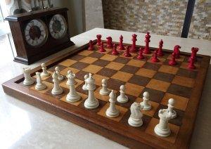 Antique Type 1 Bone Staunton Chessmen