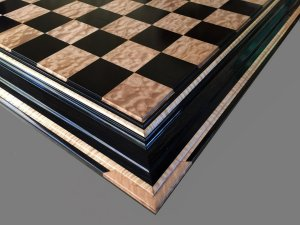 Ebony and Popcorn Maple Signature Chessboard