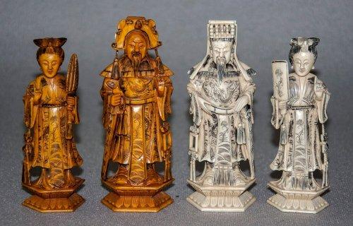 Antique Chinese Deity Chess Set