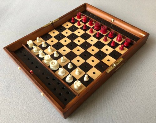 Jaques Status Quo Travel Chess Set, Type II