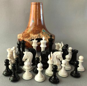 House of Staunton Bone Imperial Chessmen