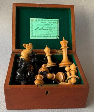Jaques AnderssenChessmen, Drop-Jaw Style, Tournament Size