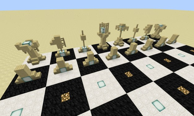 Minecraft :: Chess set design and tutorial