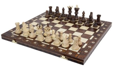 Chess Set – Ambassador High Detail European Wooden Handmade Set – 21″x21″