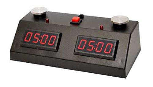 ZMart Fun ZMF-II Digital Chess Clock – Red LED Display / Black Case
