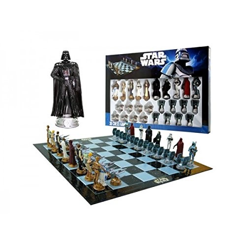 Star Wars Chess Set / Chess Game Board with Star Wars Figurines Chess Pieces (Game Board Size 17″ x 17″)
