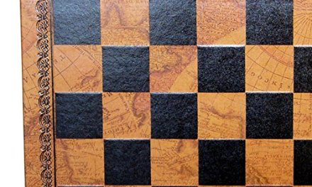 Map Pressed Leather Chess Board – 1.3 Inch Square