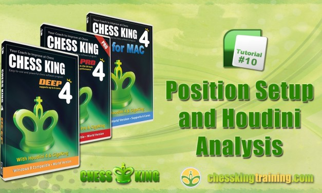Chess King 4 Tutorial 10 – Position Setup and Houdini Analysis in Chess King 4 for PC/Mac