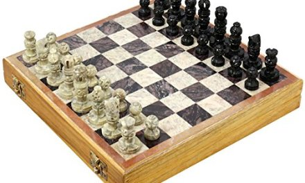 Rajasthan Stone Art Unique Chess Sets and Board -Indian Handmade Unique Gifts -Size 10X10 Inches