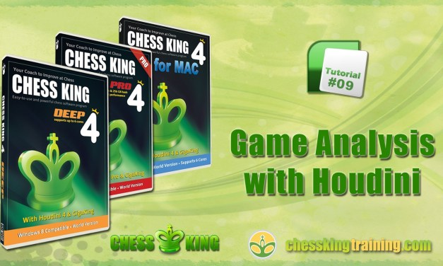 Chess King 4 Tutorial 09 – Game Analysis with Houdini in Chess King 4 for PC/Mac
