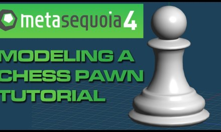 【メタセコイア】 Metasequoia 4 to MMD Beginner Tutorial: Modeling a Chess Pawn