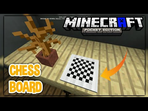 MCPE TRICK TUTORIAL:How to Make a Chess Board / Minecraft PE 1.2