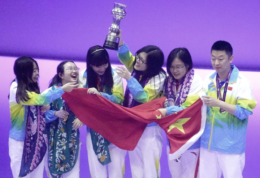 China is the champion in Women Section