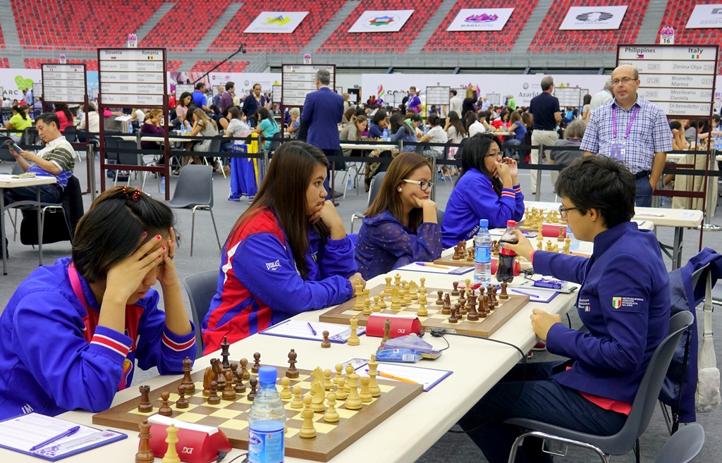 Philippines wins against Italy in Round 10 Baku 2016 Chess Olympiad Women