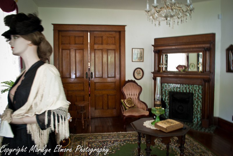 PARLOR WITH POCKET DOORS AND FIREPLACE