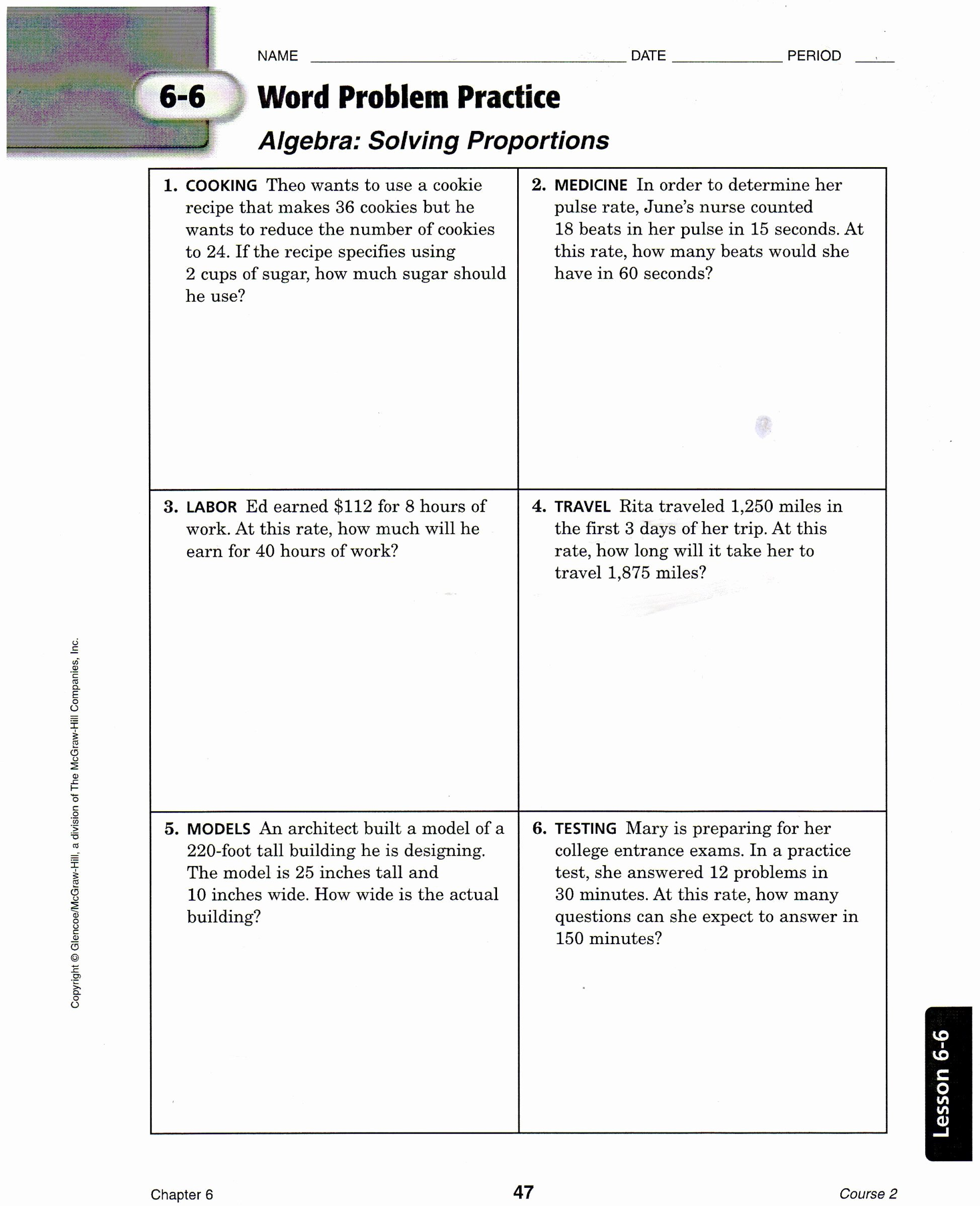 50 7th Grade Proportions Worksheet