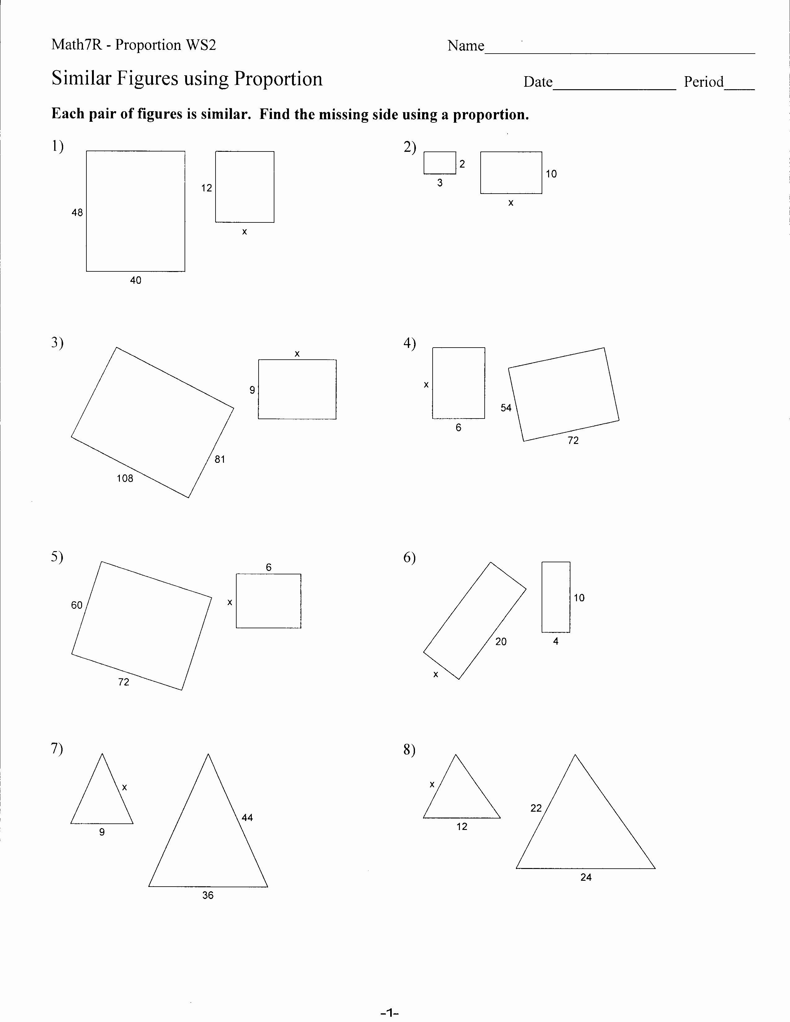 50 7th Grade Proportions Worksheet
