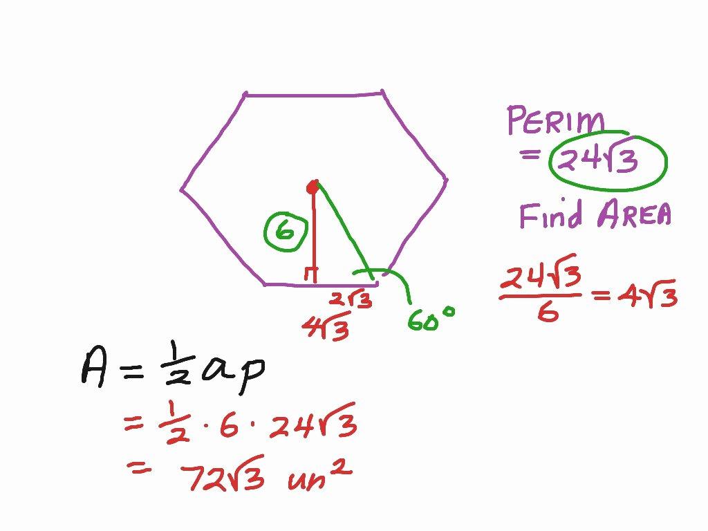 50 Area Of Regular Polygons Worksheet