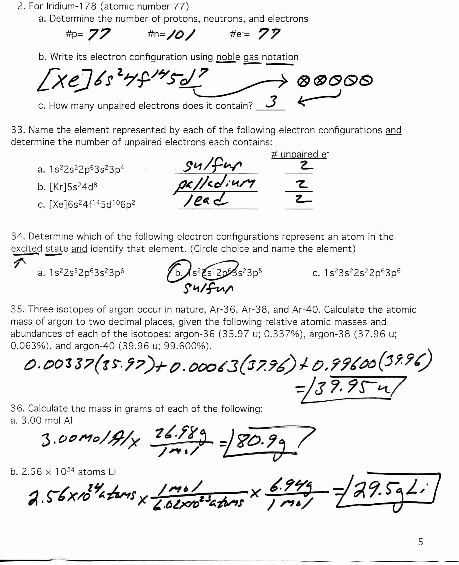 50 Atomic Structure Practice Worksheet Answers