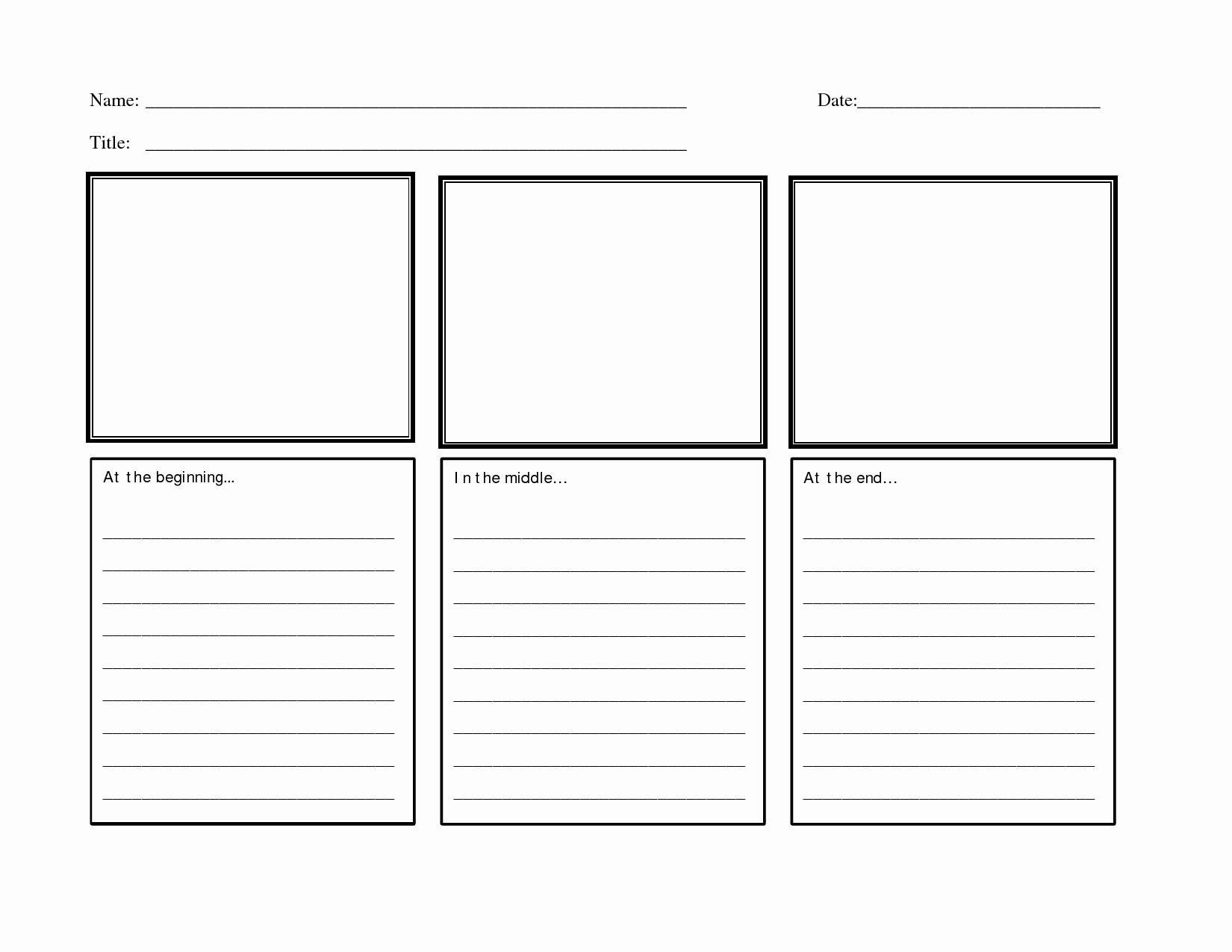 50 Beginning Middle End Worksheet