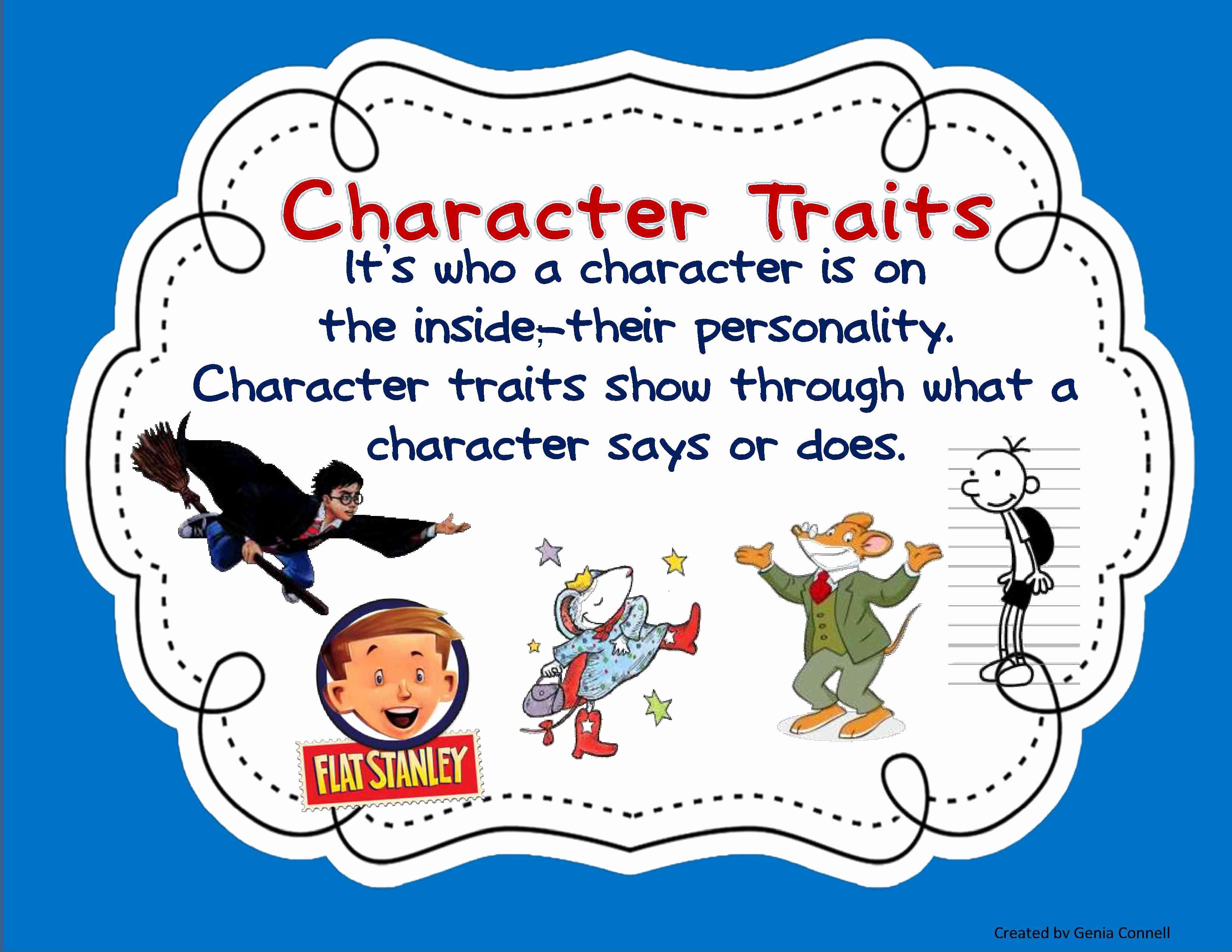 50 Character Traits Worksheet 3rd Grade