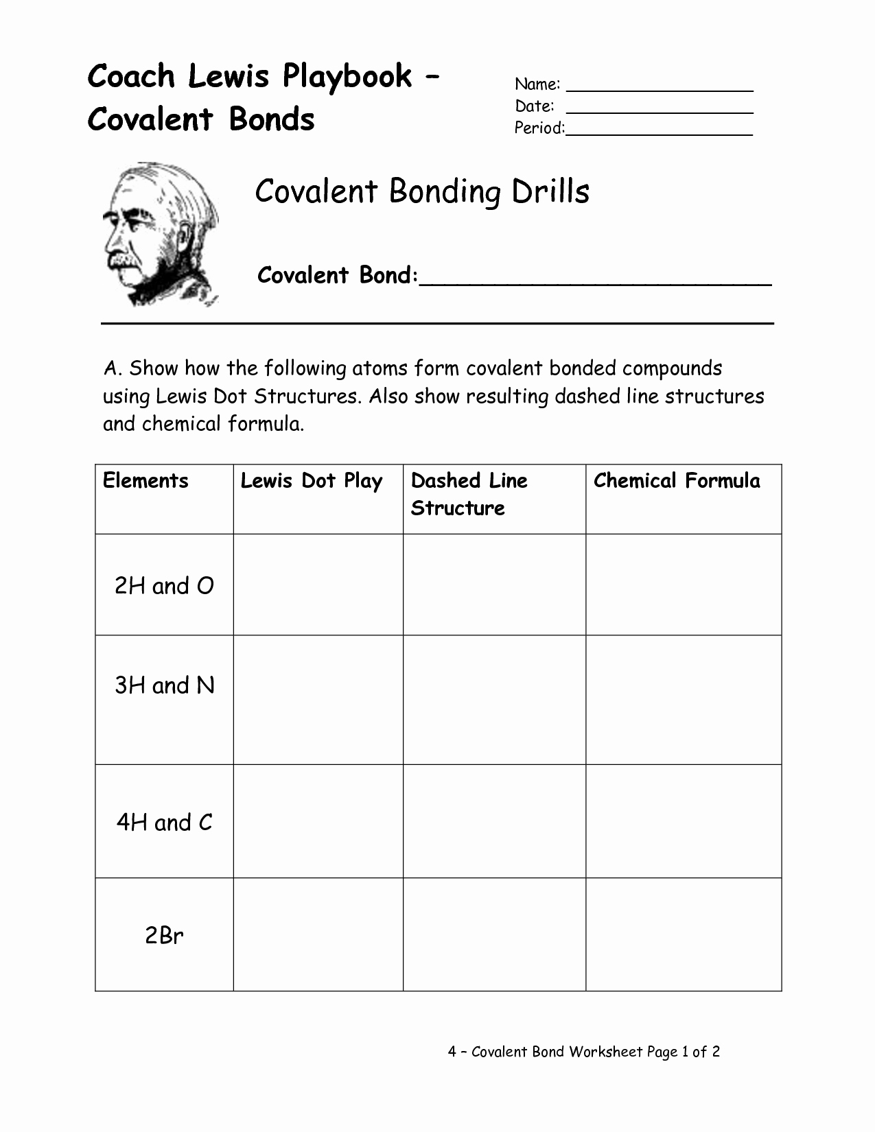 50 Chemical Bonding Worksheet Key