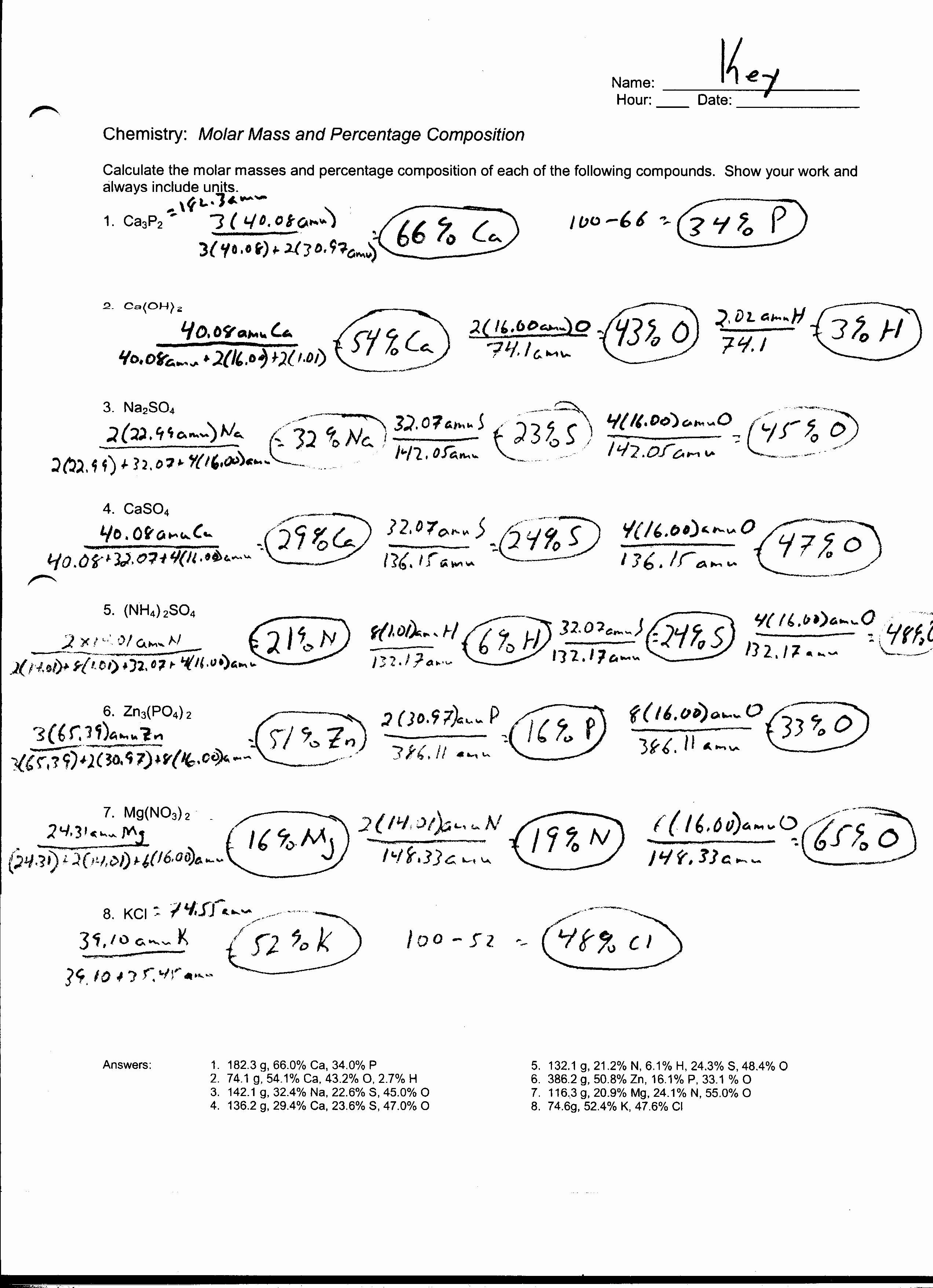 50 Chemistry Conversion Factors Worksheet