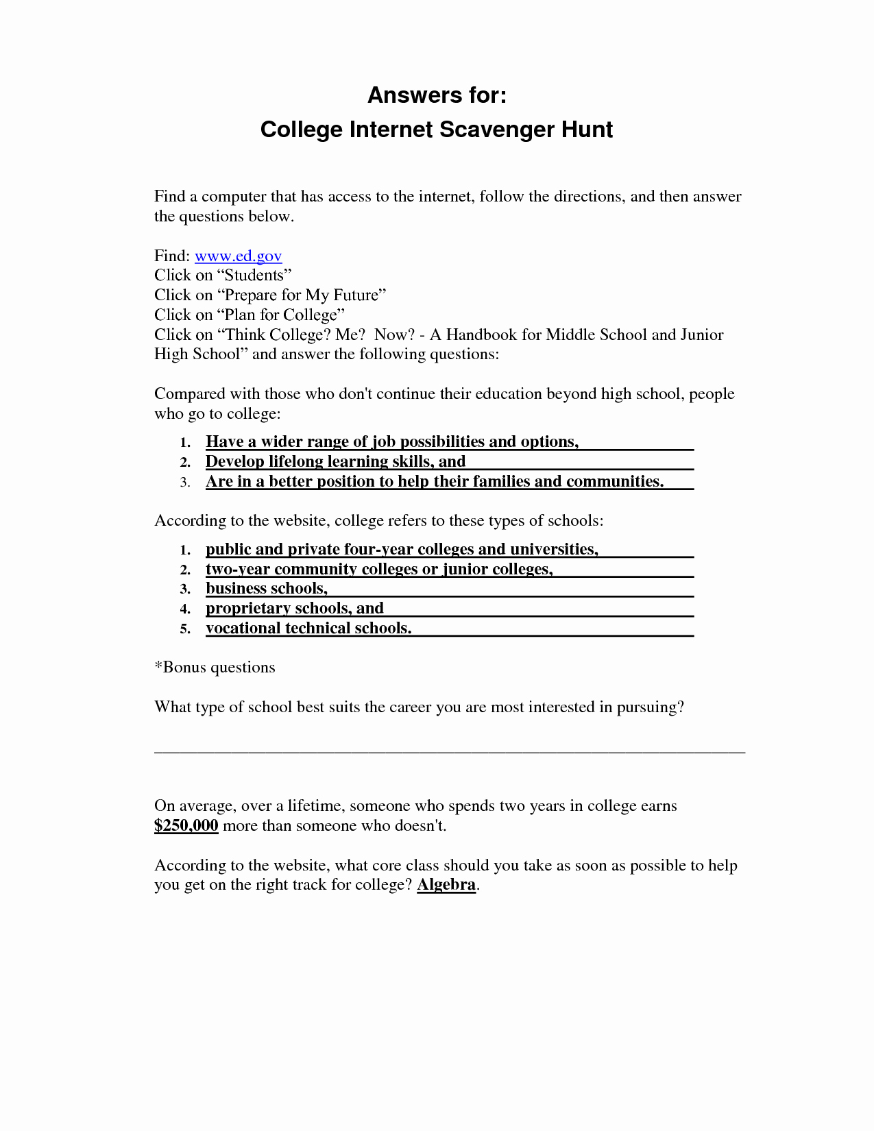 50 Computer Basics Worksheet Answer Key