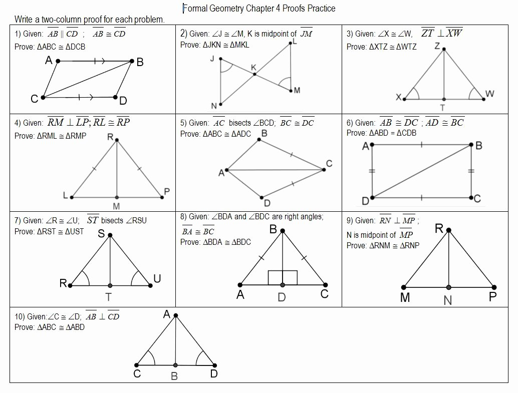 50 Congruent Triangles Worksheet With Answer