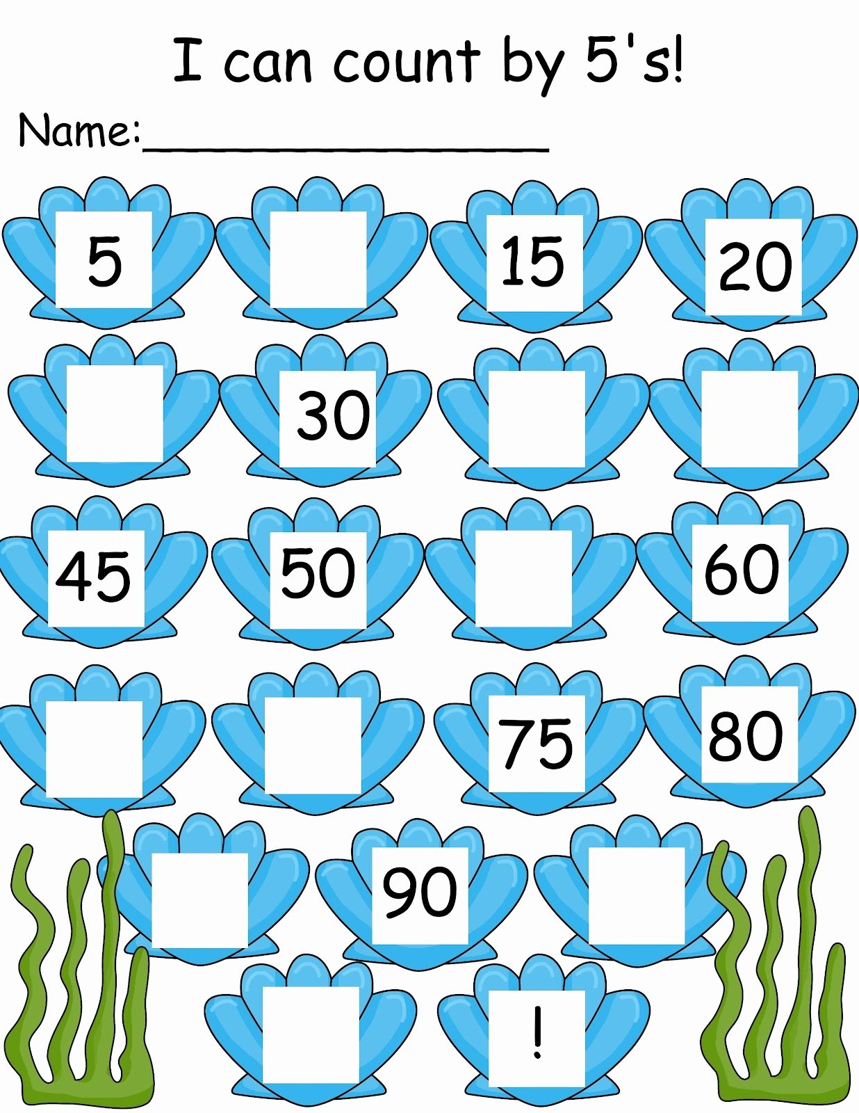 Counting By 5s Worksheet Beautiful Count By 5s Worksheets