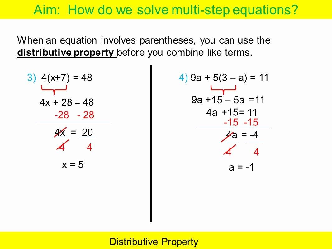 50 Distributive Property Equations Worksheet