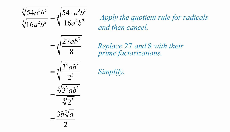 50 Dividing Radical Expressions Worksheet