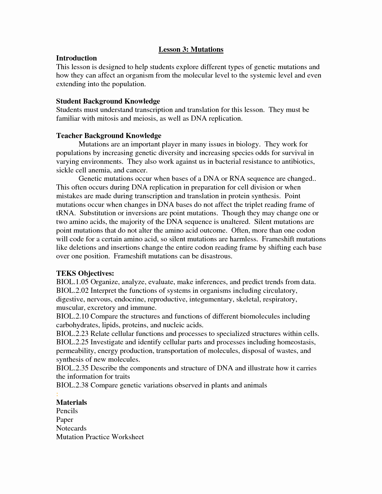 50 Dna Mutation Practice Worksheet Answers