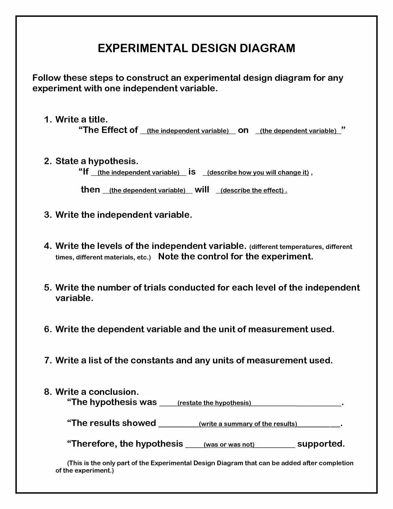 50 Experimental Design Worksheet Answers