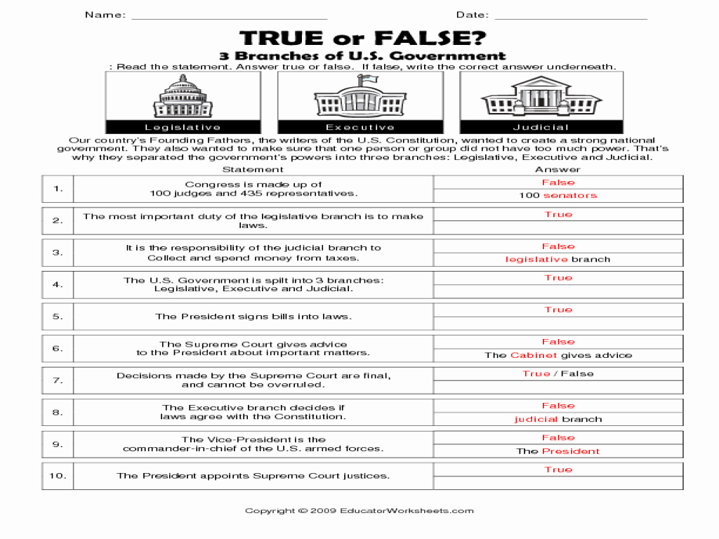 50 Forms Of Government Worksheet