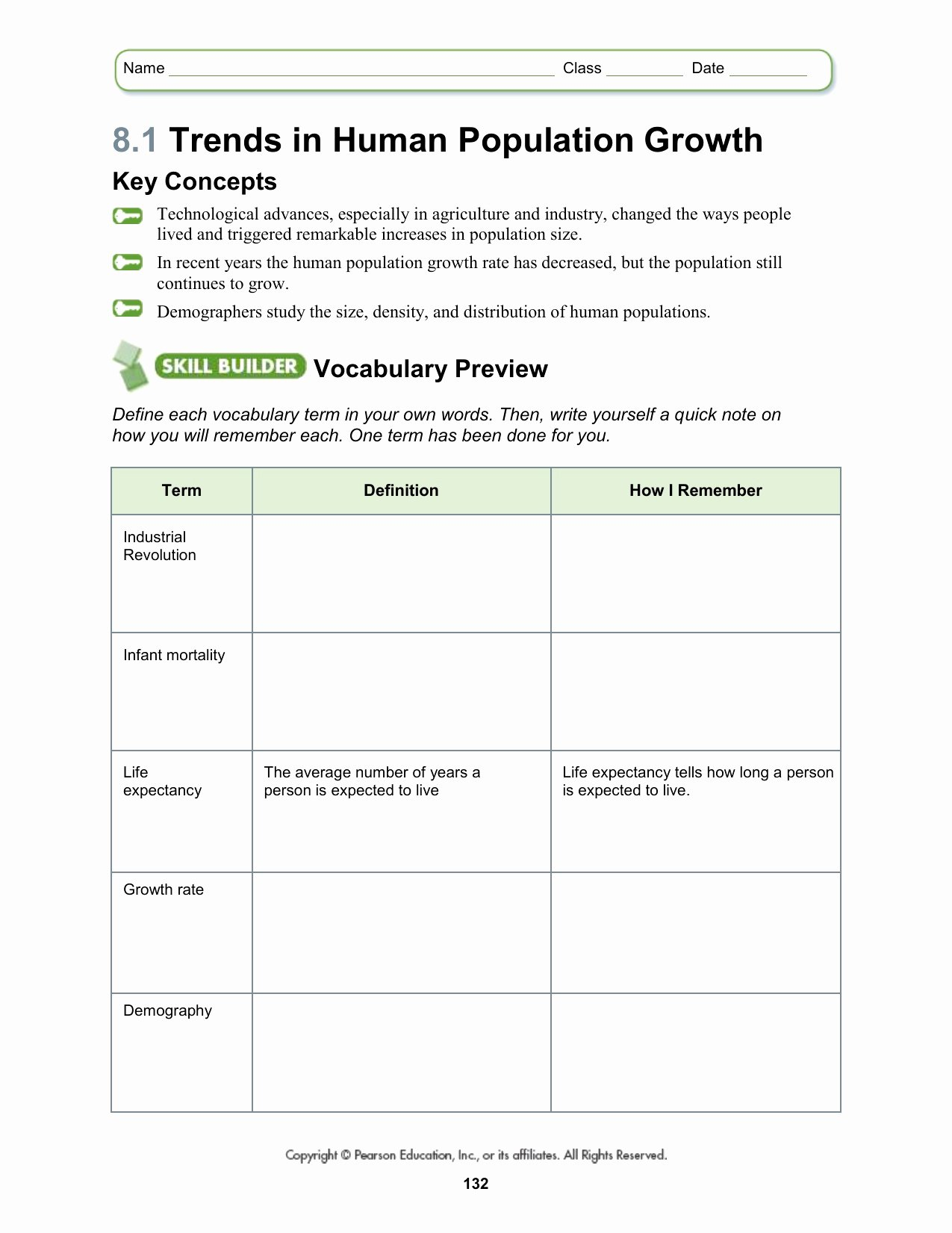 50 Human Population Growth Worksheet Answer