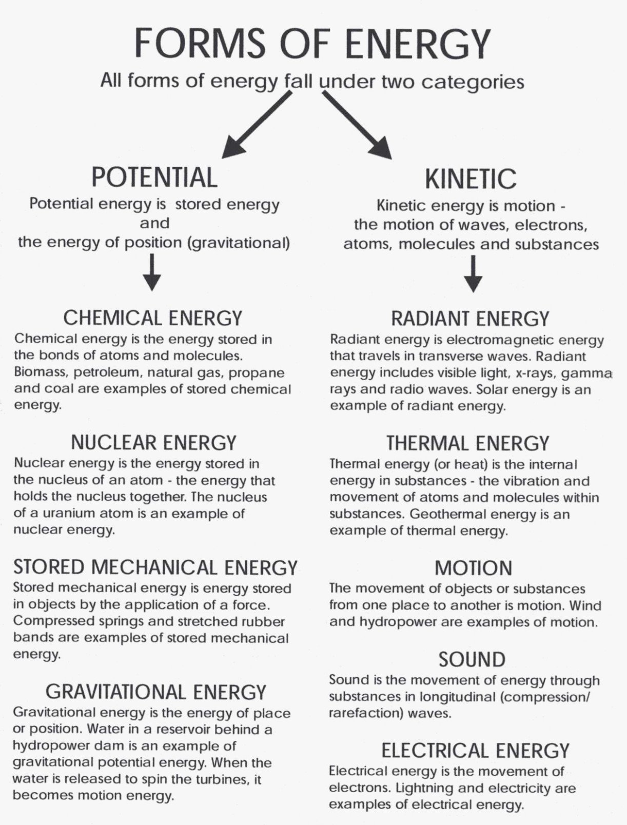 50 Introduction To Energy Worksheet