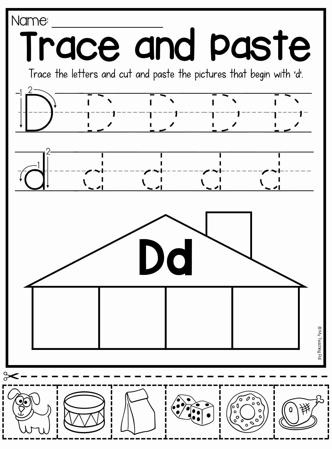 50 Letter D Worksheet For Preschool