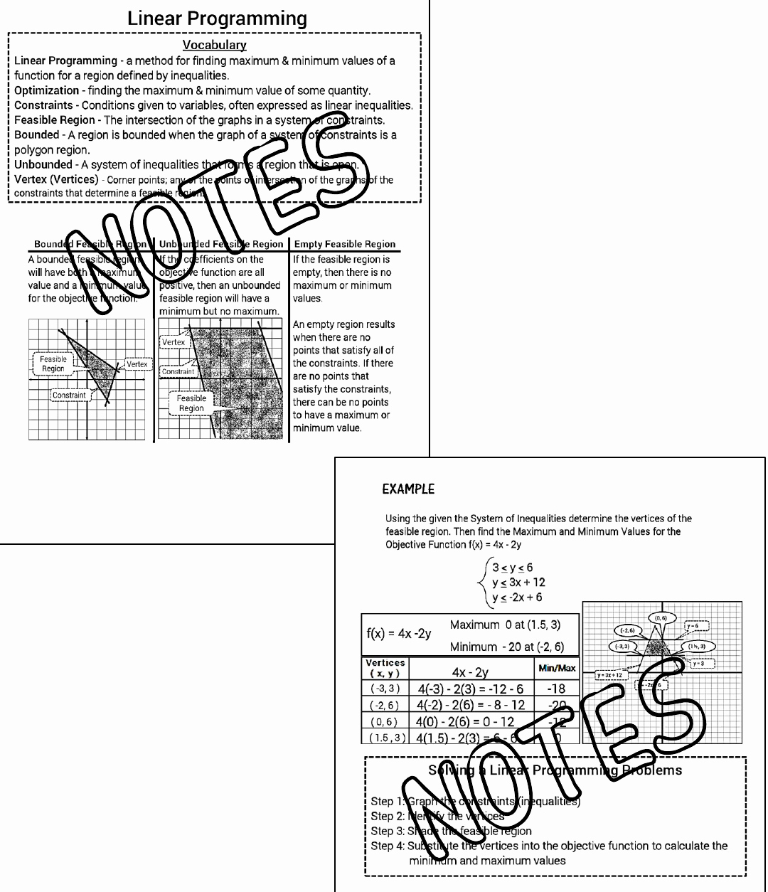 50 Linear Equations And Inequalities Worksheet